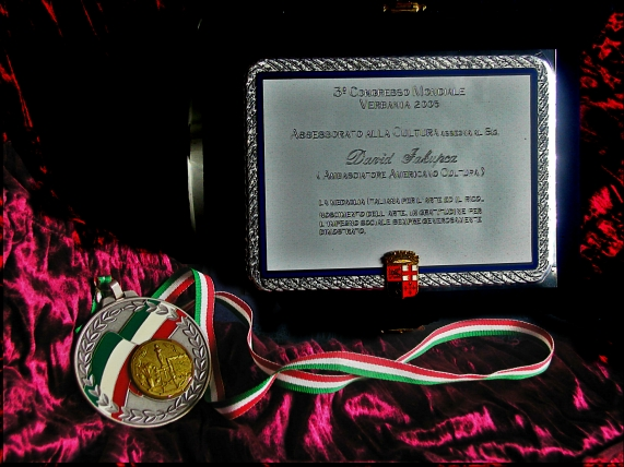 Awards Italian Medal of Arts ICEA Ambassadors Jakupca